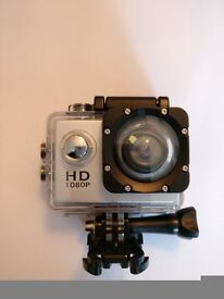 Sports Action Cam Full HD 1080p 140 degree 2 inch LCD screen Waterproof 30m. LESS £££ THAN GO PRO
