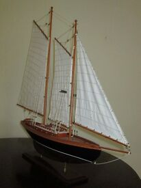 Decorative ketch rigged yacht on stand
