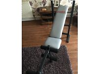 Cross trainer & weight bench for sale