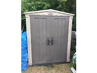 Keter 6x6 plastic shed with base