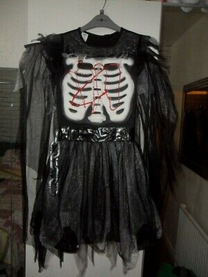 Scary Halloween Costumes For Girls Age 10 ( age 9-10 years scary witch fancy dress attached chain & cape hard rib panel)