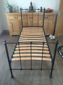 Laura Ashley black single bed
