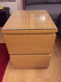 Ikea malm two drawer side unit