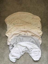 6 Moses basket fitted sheets