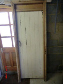 RUSTIC FARMHOUSE COTTAGE STYLE DOOR WITH FRAME.