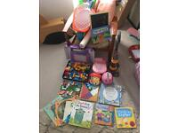 Really great selection of near new toddler books toys and activities