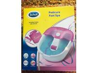 Scholl pedicure foot spa