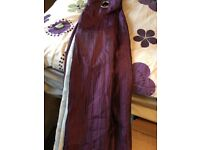 Purple sheen/creased curtains