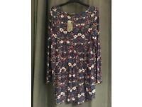 NEW floral jersey top