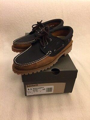 Timberland 3 Eye Boot schuh schwarz braun Gr.42 A1P4U Herren Sneaker boat Herren