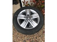 4 brand new VW Wheels and tyres