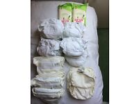 Eco reusable nappies set - excellent condition -- will save you £££
