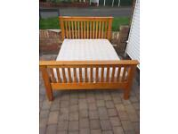 Dreams solid pine double bed with mattress