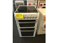 HOTPOINT 50CM CEROMIC TOP ELECTRIC COOKER