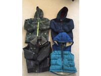 Selection of boys coats age 5-6 years