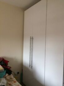 Ikea tall wardrobe cupboard with shelves , **must go** as moving house