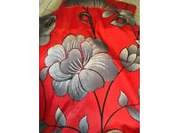 """Next 66"""" by 90"""" eyelet curtains and matching x2 cushions"""