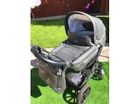 Emmaljunga Mandial (Colour-Anthrazit) pram/pushchair with Duo sport Chrom leather chassis