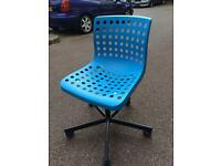 Blue plastic IKEA chairs local delivery available