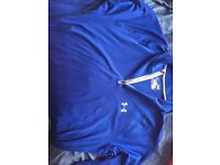 2 Medium Under Armour 1/4 zip Heatgear Running Tops