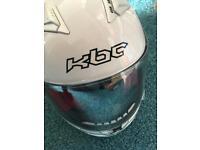 Kbc white motorbike helmet xs 53-54cm