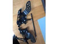 R1 04-06 adjustable rearsets