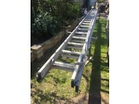 Ladder heavy duty aluminium new rope 5.4m long and 10m extended