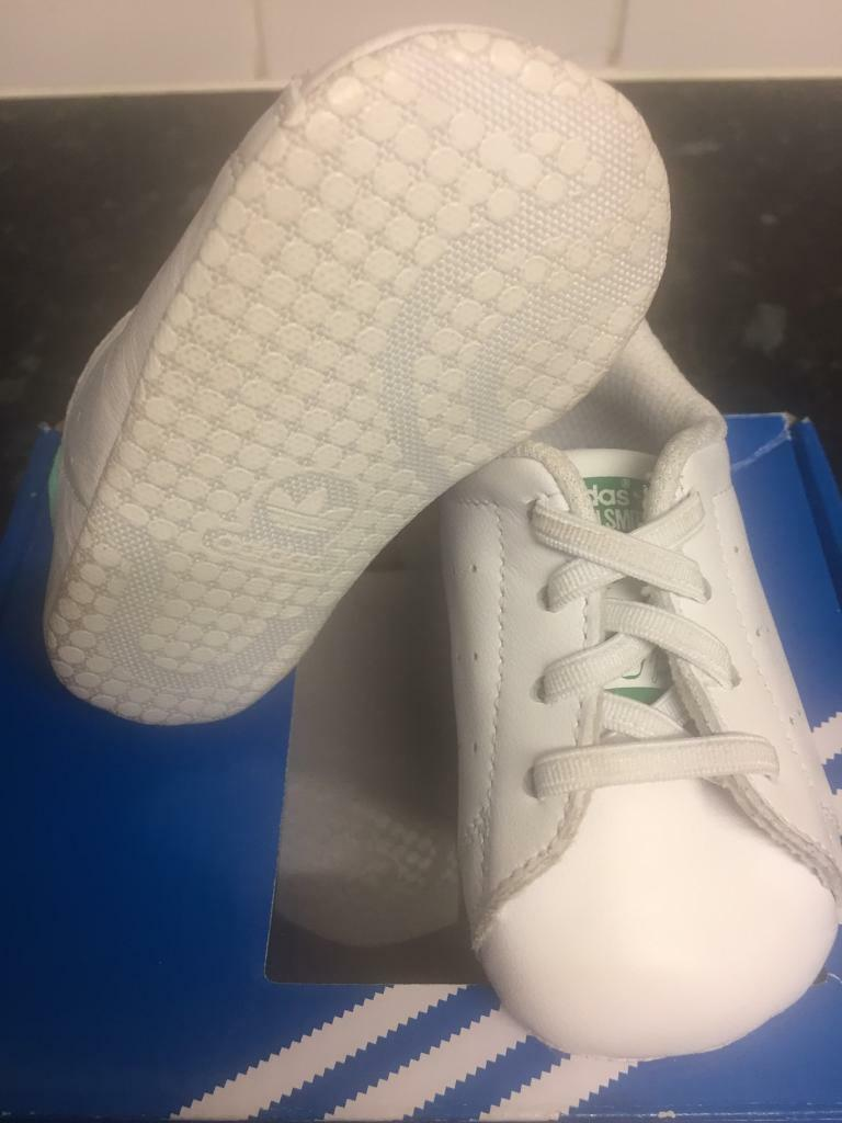 Adidas Stan smith original infant crib trainers size 1