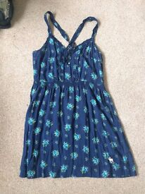 ABERCROMBIE & FITCH MEDIUM STRAPPY FLORAL DRESS- £8