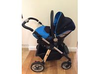 Silver Cross Pioneer complete travel system in sky blue