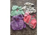 Hand Knitted Baby Outfits