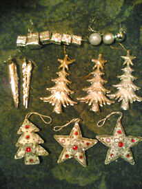 Assorted Christmas Baubles / Decorations - £2 each pictured set