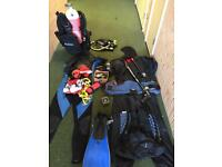 Diving gear size large