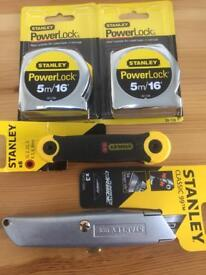 Stanley tools x 4 brand new.