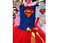 TUTU DRESSES! Super Girl / bat Girl Hand Crafted any size theme or colour!