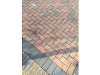 Red and some black - used for border - block paving stones approx 50 square metres