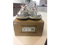 Mens Yeezy UK 9.5 Adidas Zebras Trainers