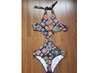 ASOS multicolor cutout swimsuit uk8/10