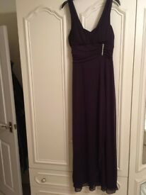Perfect for the Christmas Party **Aubergine Evening Gown** Size 12