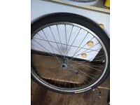 BIKE / CYCLE FRONT WHEELS 26INCH ONE STEEL ONE ALLOY AND SPARE TYRE AND TUBE