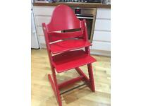 Tripp trapp Stokke red high chair