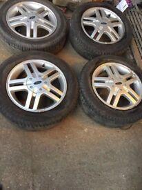 "Ford Focus MK1/MK2 set of 4 alloy wheels 3 good tyres 15"""