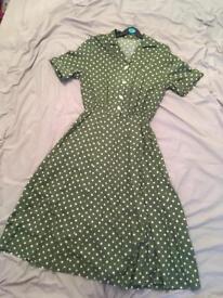 1940s land girl vintage repo dress