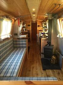 54' Ocean-going Narrow Boat: Year-round cruising live-aboard; new re-fit; unique and beautiful boat