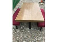 Dining table and 2 benches FREE DELIVERY PLYMOUTH AREA