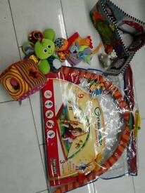 Baby gym and other toys