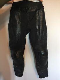 Women's Size 8 Leather Motorbike Trousers