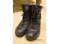 Black Army Cadet Boots - Size UK 8