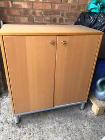 Wooden cupboard with 2 shelves