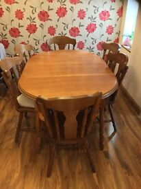 Wooden Dining Table Setting 4 6 People